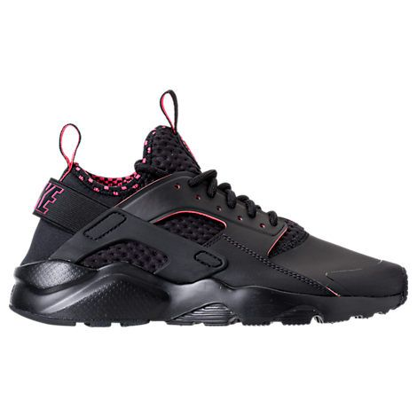 NIKE MEN'S AIR HUARACHE RUN ULTRA SE CASUAL SHOES, BLACK. #nike #shoes #