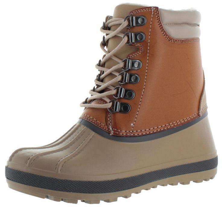 Moda Essentials Womens Duck Toe Snow Hiking Boots