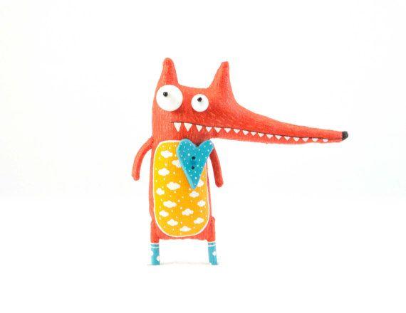 Romantic fox by MarLitoys on Etsy