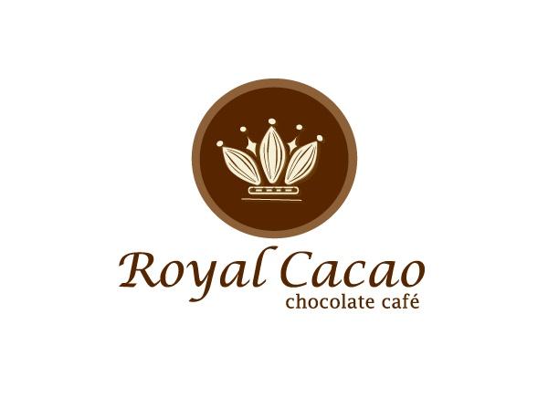 Royal Cacao Chocolate Cafe Logo Design