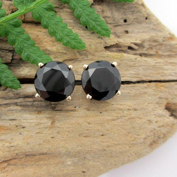 Black Spinel Earrings in Sterling silver!