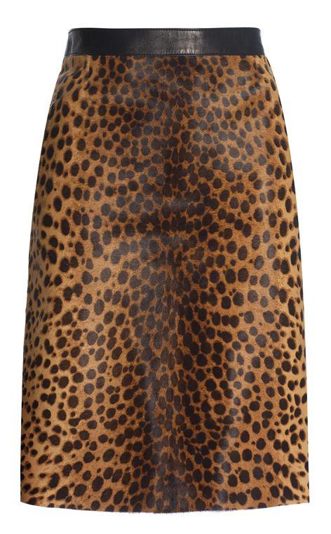 Joseph animal pencil skirt