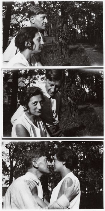 Josef + Anni Albers on the grounds of the masters' houses at the Bauhaus in Dessau, ca. 1925.