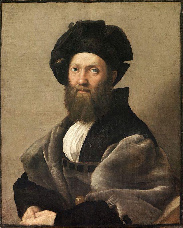 Ritratto Di Baldassarre Castiglione Autore:Raffaello Sanzio Data:1514-1515 Dove:Museo Del Louvre, Lens
