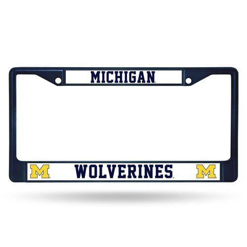 Michigan Wolverines Metal License Plate Frame - Navy