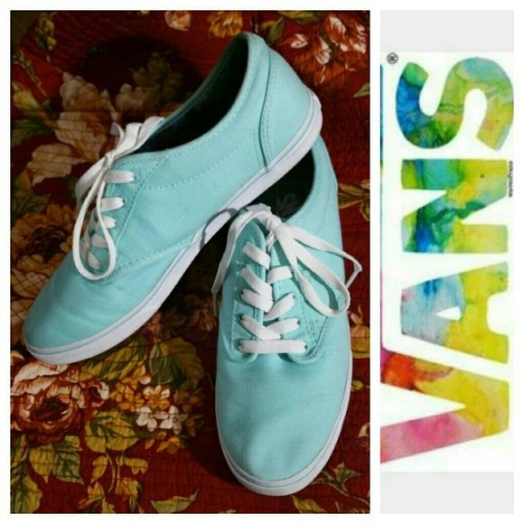 VANS Womens Tiffany blue Shoes Size 9 VANS Womens Tiffany blue Shoes Size 9. These have only been worn a few times, great used condition. They do have signs of use, but definitely a beautiful pair of shoes with a LOT of life left in them! !!! Vans Shoes Athletic Shoes