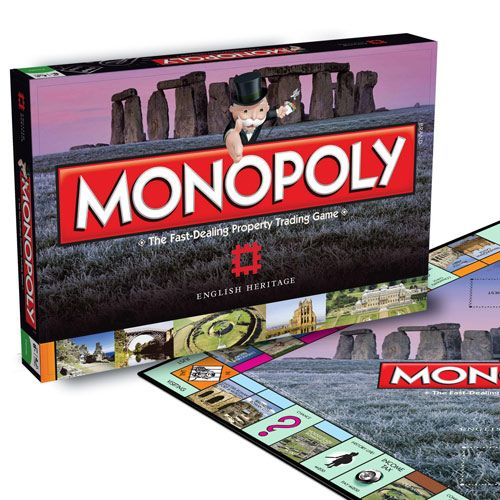 Swap Old Kent Road for Stonehenge and Park Lane for Dover Castle in this special English Heritage edition of Monopoly. This unique version of everybodys favorite board game champions English Heritages preservation of over 400 sites, buildings and monuments.