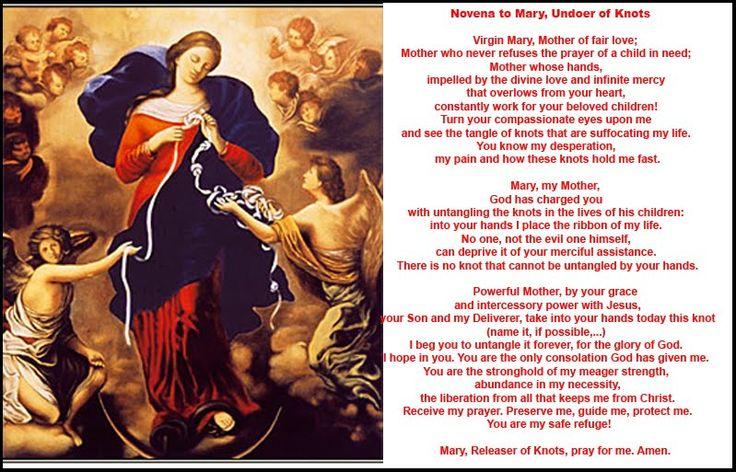 My Favorite Novena Prayers: Novena to Mary, Undoer of Knots