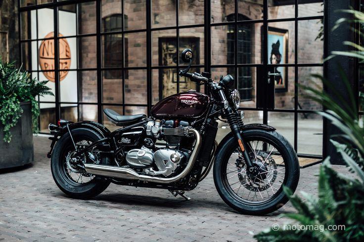 Dépouillée, basse, sombre, la Bonneville Bobber s'adresse à ceux qui veulent conjuguer la moto « classique » avec un zeste de « hot rod » dedans ! L'idée est bonne, espérons qu'au roulage, elle en donnera autant que sa ligne le suggère…