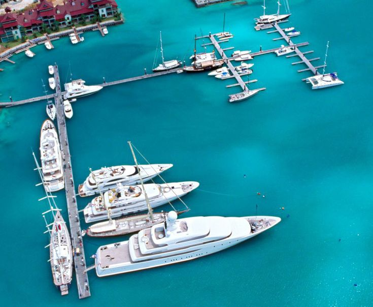 Eden Island's deep water marina.  Capability: super yachts up to 100m!