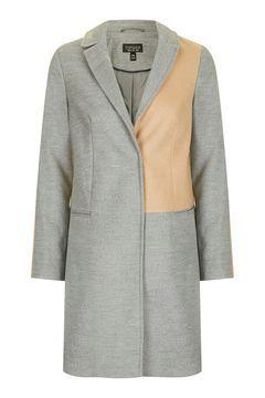 Colourblock Boyfriend Style Coat