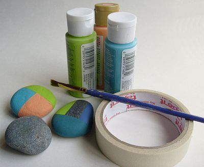 How to paint rocks with no drawing skills involved