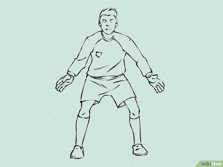 Картинки для срисовки футболистов легкие