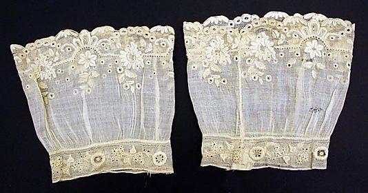Cuffs  Date: mid-19th century Culture: AmericanCentury American, American Victorian, Beautiful American, Fashion, Cuffs 1850, Beautiful Lace, 1850S, Century Cuffs, Mid 19Th Century