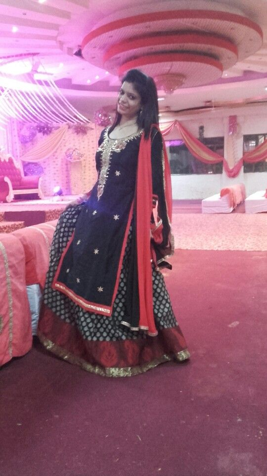 gota patti work chanderi kurta with skirt...