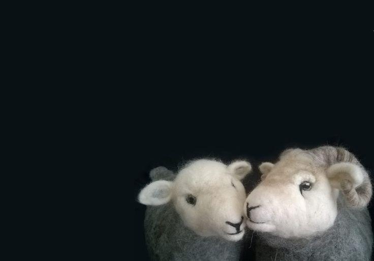 Needle felted sheep - Herdwick Sheep doorstops