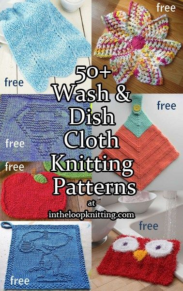 Knitting patterns for wash cloths and dish cloths. Most patterns are free. Many of these patterns can be adapted to afghan squares oar other…