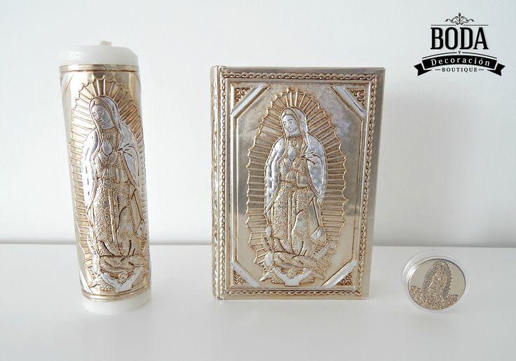 Virgen Matrimonio Biblia : Checa este set de cirio biblia y rosario con diseño la