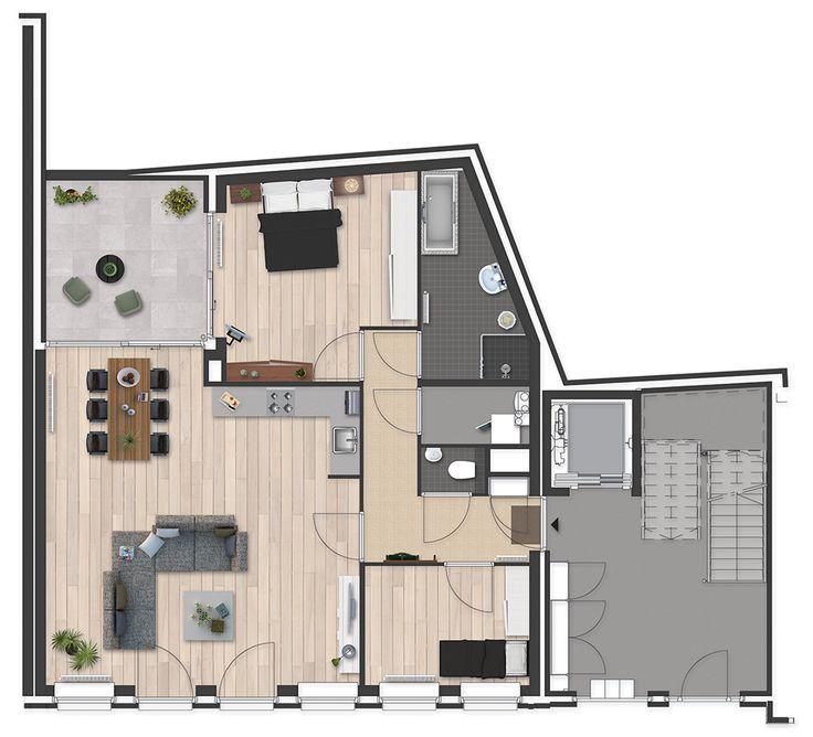25 beste idee n over appartement plattegronden op pinterest appartement indeling sims en - Appartement huis ...