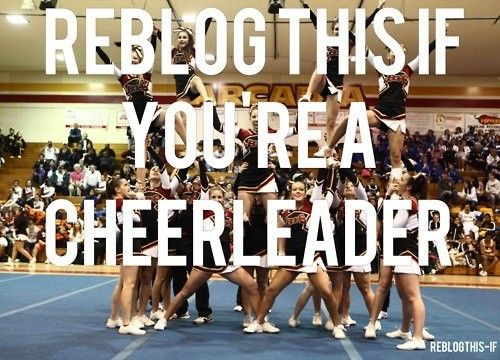 Yes I am! I'm a cheerleader and I'm proud to be! Cheerleading is my love,passion,and life! ❤️