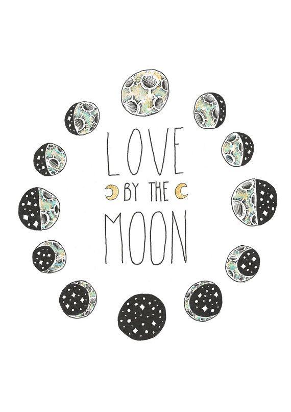 Love By The Moon by BirdBlackEmporium on Etsy