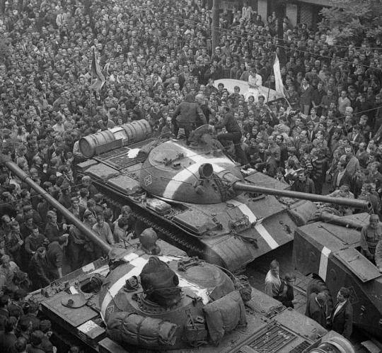 Prague Spring, 1968 - Political liberalization leads to Soviet invasion to halt reforms.