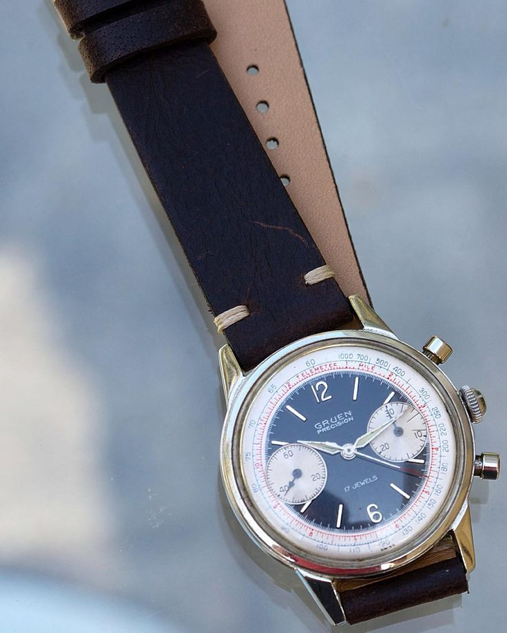 Gruen precision vintage chronograph