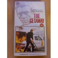 The Getaway VHS from Warner Home Video (PES 61304). 1990 VHS release of the 1972 crime/drama film starring Steve McQueen and Ali MacGraw. Complete in case. Very good condition. £2.00