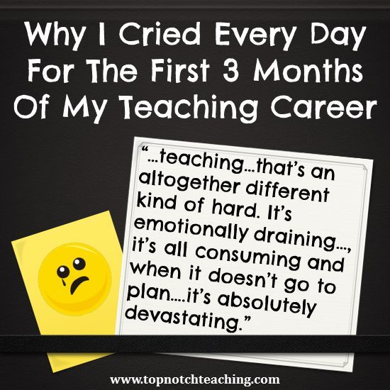 A personal recount of my first 3 months of being a teacher.  Read how I nearly didn't make it and how a severe lack of support from the school is all too common for beginning teachers. http://topnotchteaching.com/personal/cried-first-3-months-teaching-career/