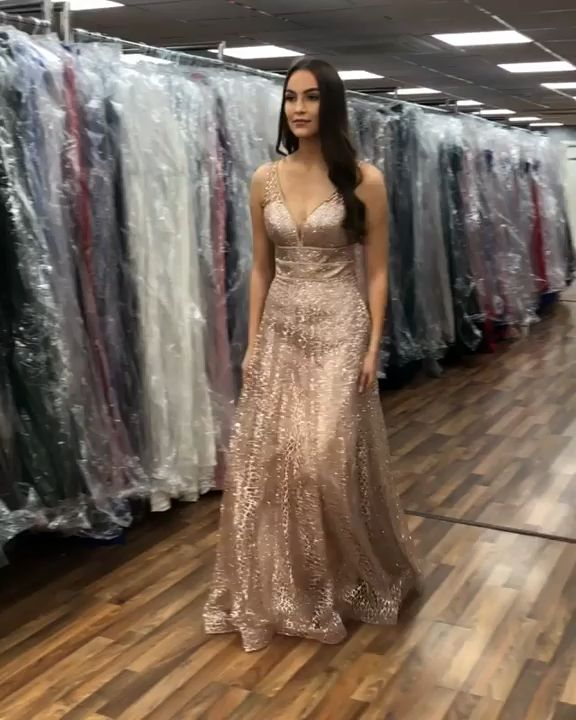 Stunning V Neck A Line Sleeveless Floor Length Prom Dress D44 #partydresses #partygown #promdresses #promgown #partygown #promoutfits #partyoutfits #vneckpromdresses #promdresses2019