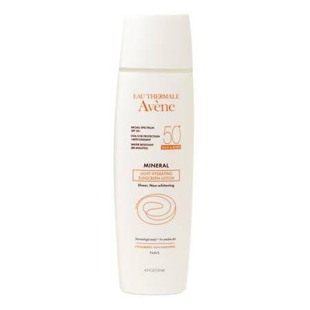 Avene Mineral Light Hydrating Sunscreen Lotion, Face & Body Spf 50+ - 4.2 Oz.