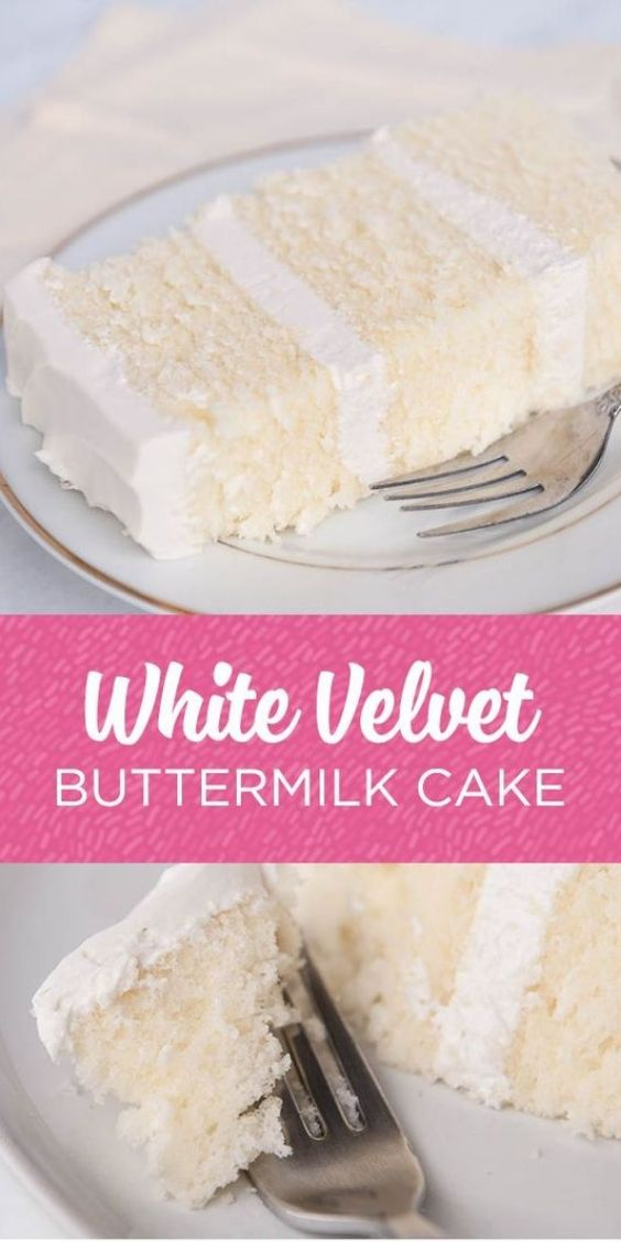 White velvet buttermilk cake recipe