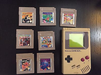 GAME-BOY-ORIGINAL-NINTENDO-DMG-01-CONSOLE-GAMEBOY-TESTED-HANDHELD-1989-w-7-GAMES