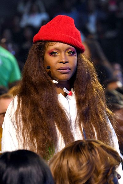 Host Erykah Badu speaks during the 2017 Soul Train Awards, presented by BET, at the Orleans Arena on November 5, 2017 in Las Vegas, Nevada. - BET Presents: 2017 Soul Train Awards - Backstage & Audience
