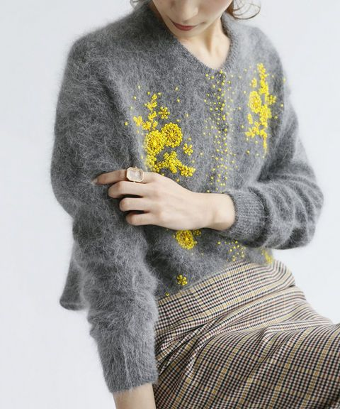 baycrewsjp. The great thing about this cardigan is that you can pick up one from the 2nd hand store, make sure it's a good yarn, then go home and embroider it yourself, that is if you know how to embroider!!!!!