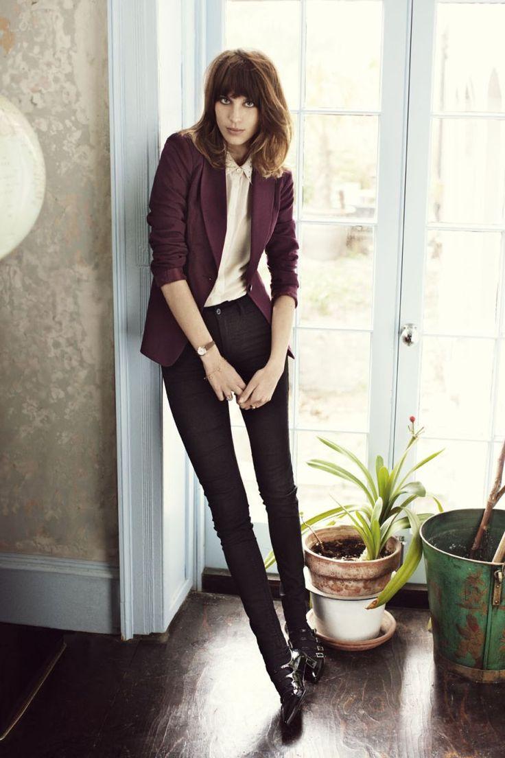 Berry blazer. Alexa Chung for Vero Moda
