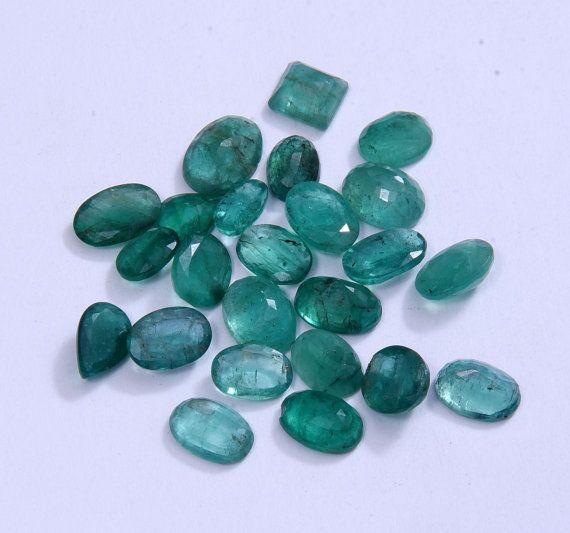 22 PCs Lot of Emerald 35.45 CTs. Approx Emerald by AdornmixJewels