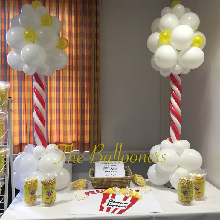 Popcorn stand balloons wow by simeon