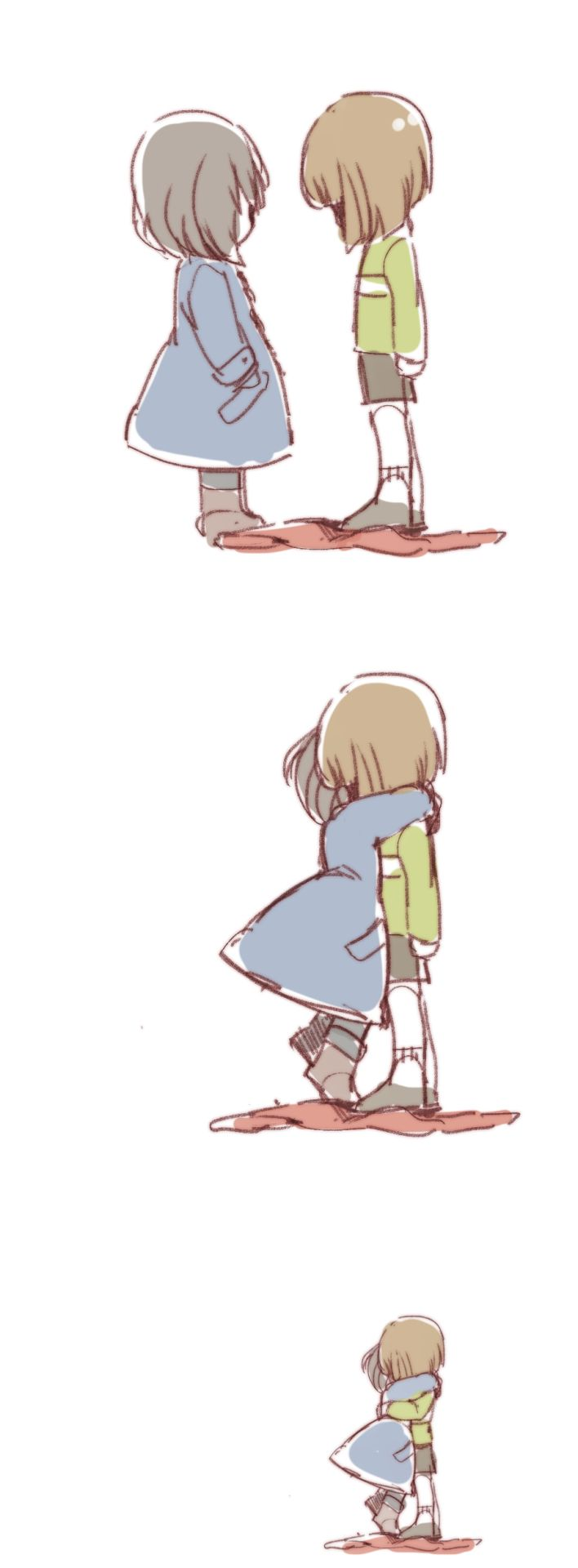Undertale Chara and Frisk comic