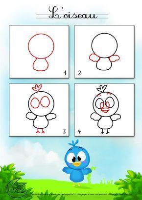 17 meilleures id es propos de comment dessiner un oiseau sur pinterest croquis d 39 oiseaux - Comment dessiner des animaux ...