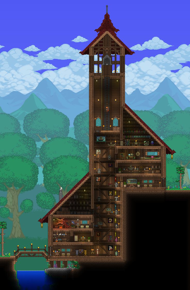 Terraria castle tower castle tower any tips terraria - Post With 1853 Votes And 134858 Views