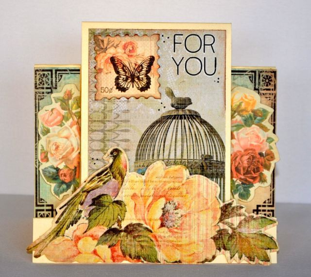 Step Card made using the Sweet Nothings Collection from Kaisercraft. By Kelly-ann Oosterbeek.