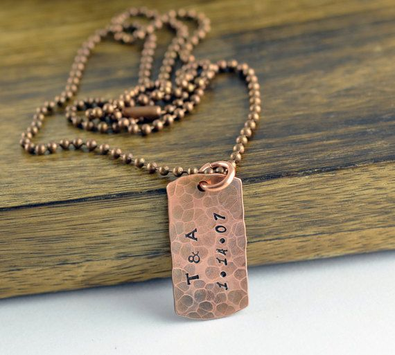 Anniversary Gift Copper Anniversary Gift For Men Dog Tag