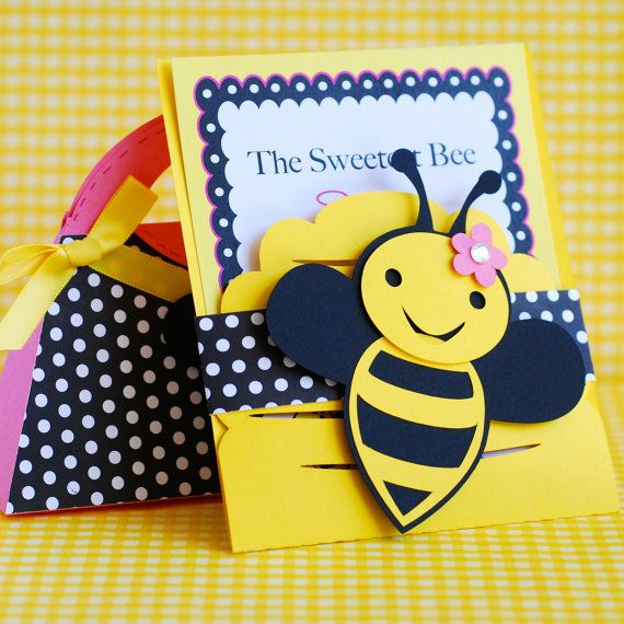custom bumble bee party invitations set of 48 by prettypaperparty