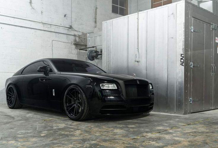 Adv1 Wheels Matte Black Murdered Out Rolls Royce Wraith