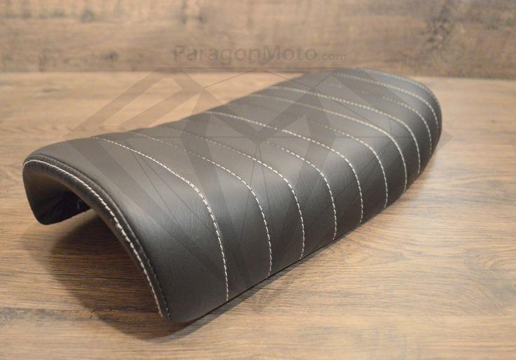 Black Caterpillar Style Seat - Flat Back Brat