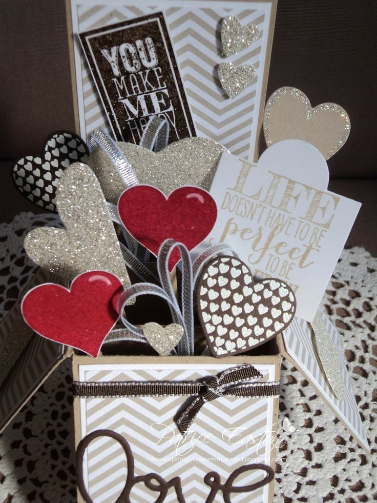 SU Hearts a Flutter | SU Perfect Pennants | Valentine Card in a Box | Spring Blossom Musings #springblossommusings
