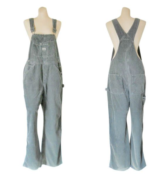 Vintage Gray Corduroy Overall Women Bib Overall 90s Old Navy by #TheVilleVintage