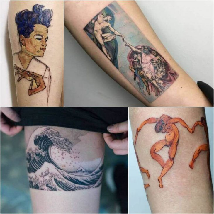 Painting Tattoo Ideas Tattoos For Art Lovers Inspired By Paintings And Works Of Art Painting Tattoo Matisse Tattoo Tattoos
