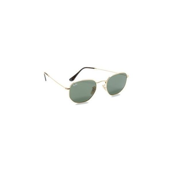 ray ban hexagonal sunglasses 150 liked on polyvore featuring accessories eyewear - Wire Frame Glasses